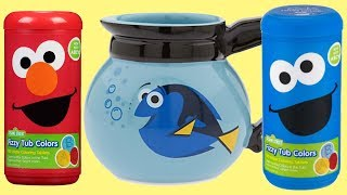 SESAME STREET Fizzy Color Learn Mix Finding Dory Coffee Pot Fish Bowl Elmo Cookie Monster / TUYC
