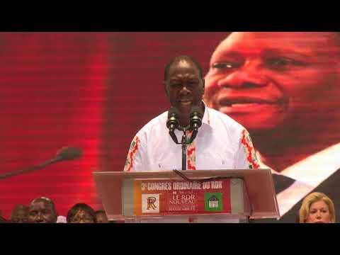 3e congrès du RDR : Le président Quattara  annonce Dagri
