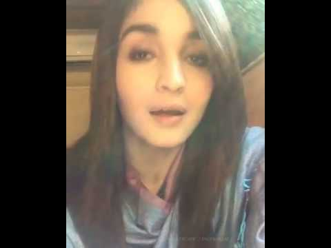 Alia bhatt sing a humsafar song... really amazing voice