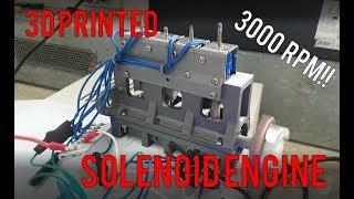 3D Printed Solenoid Engine!