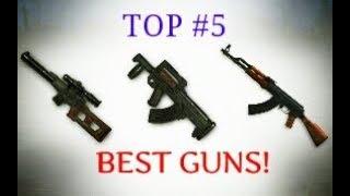 TOP 5 BEST GUNS IN FREE FIRE BATTLEGROUNDS! [English]