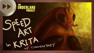 Beeg Bug Early Concept Art - KRITA SPEED ART and VLOG | The Underland Project - EPISODE 1