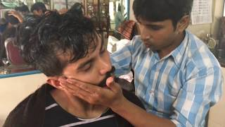 ASMR Indian Barber Head Massage With Ear & Neck Cracking By Sunil