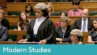 Mock criminal trial (2/6) - opening statement | Modern Studies - Young Legal Eagles