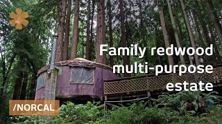 DIY redwood estate: home + yurt + cottage + micro winery