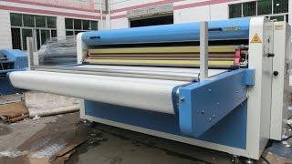 Automatic Pneumatic Garment Fusing Press Stone Iron On Fabrics Hot Pressing Adhesive Machine