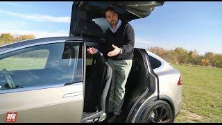 Tesla Model X 2016 : notre essai habitabilité (SUV 100% électrique 7 places)