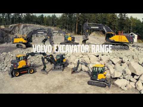The Volvo Construction Equipment Excavator range