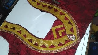 easy blouse designe cutting and stitching at home 2017