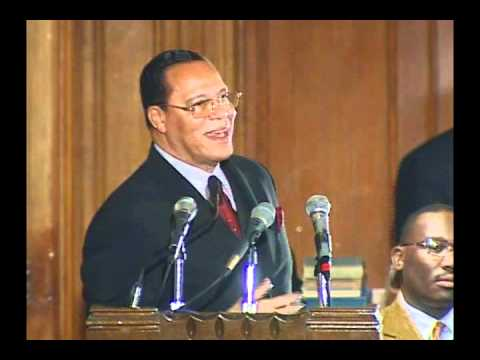 Farrakhan educates Newark Street Gangs POWERFUL