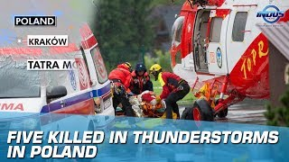 Five Killed In Thunderstorms In Poland | Indus News