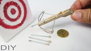 Smallest Crossbow from Hair clip and popsicle sticks - DIY