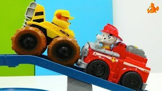 Paw Patrol Toys Unboxing - TRUCKS TRAIN Fire Rescue! - Videos for kids