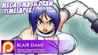 Mega Smash Draw Timelapse - Blair Dame