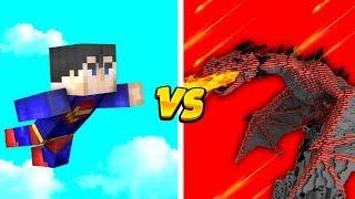 SUPERMAN vs OGROMNY SMOK, KTO WYGRA? - MINECRAFT