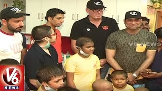 SRH Team Visits St. Jude India Childcare Centre In Hyderabad || V6 News