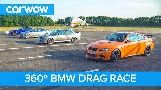 BMW M3 Generations - 360° DRAG RACE & ROLLING RACE