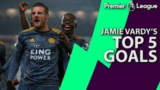 Jamie Vardy's top five Premier League goals for Leicester City | NBC Sports