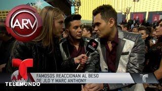 Famosos reaccionan al beso de JLo y Marc Anthony | Al Rojo Vivo | Telemundo