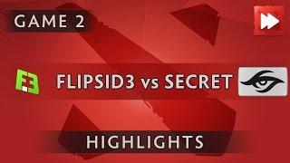 FlipSid3 Tactics vs Team Secret [Game 2] Dota Pit League Season Five - Dota Highlights
