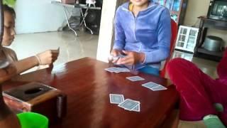 Cambodian Girl playing card