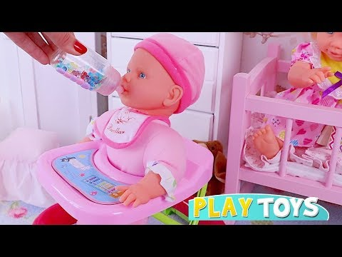 Xxx Mp4 Pretend Play With Baby Dolls And Toys For Kids 🎀 3gp Sex