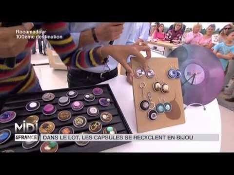 MADE IN FRANCE Dans le Lot les capsules se recyclent en bijou