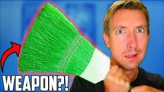 DIY WEAPONS - 5 Household Items vs Fruit Ninja in Real Life (Homemade & Everyday Objects)