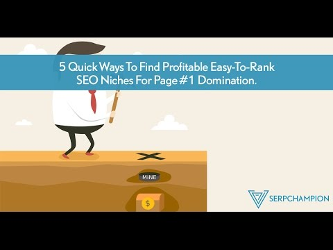 5 Quick Ways To Find Profitable Easy-To-Rank SEO Niches For Page #1 Domination