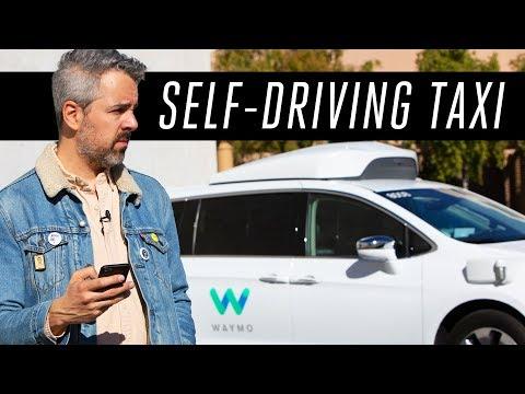 Riding a Waymo self driving taxi