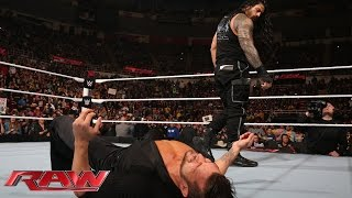 Roman Reigns silences Fandango: Raw, December 15, 2014