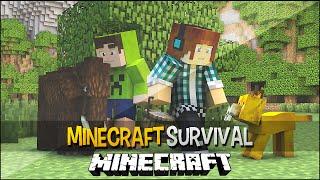 Minecraft Survival Ep.153 - Nasceu um Mamute e um Tigre Dente de Sabre  !!