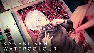 [Anime Fan Arts] Tokyo Ghoul - Kaneki Ken Watercolor Painting | By A.B.Kei