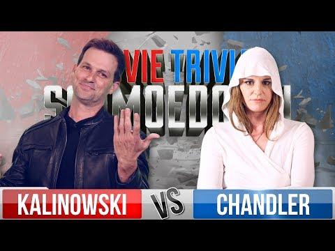 Mike Kalinowski VS Brianne Chandler - Movie Trivia Schmoedown