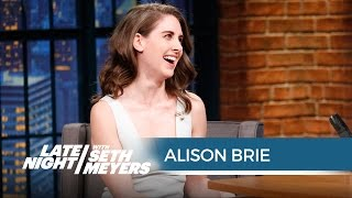 Alison Brie Accidentally Peed on Her Vintage Mad Men Undergarments - Late Night with Seth Meyers