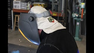 Lightweight, Single-Layer, Flame-Resistant Cotton Welding Cap by Black Stallion®
