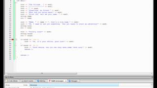 C++ Game Making Time--Lapse.. The Village... Part 1