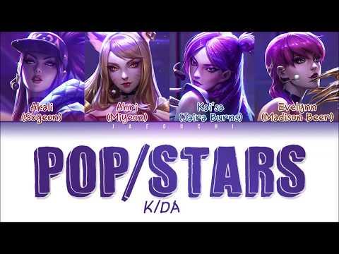 KDA - 'POPSTARS' LYRICS (ft (G)I-DLE, Madison Beer, Jaira Burns) (Color Coded EngRomHan가사)