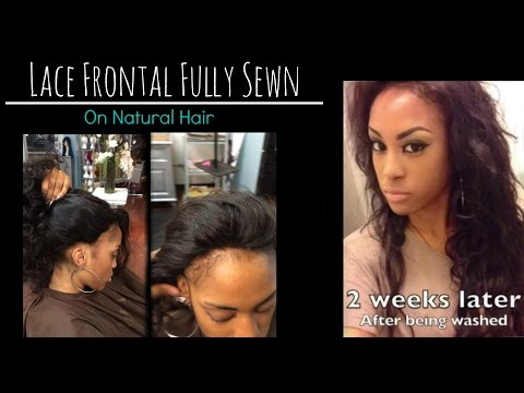 Lace frontal Sew in Weave on Natural hair No Glue Los Angeles Hair Salon Stylist Lee