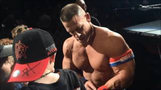 John Cena makes two young fans