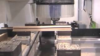 Biesse CNC machining a Mullion for Doors and WIndows