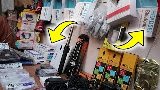 LUCKNOW CHOR BAZAAR : BEST THINGS YOU CAN FIND IN CHOR BAZAAR ( HEADSET , CHARGER , POWER BANK )