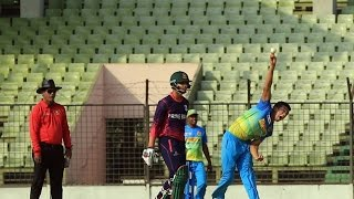 Coach indicate for observation of Taskin Ahmed bowling action