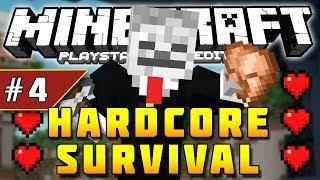 Minecraft PS3 - Hardcore Survival - Part 4 - LIVING QUARTERS! ( PS3 )