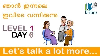Spoken English in Malayalam- Level 1, Day 6