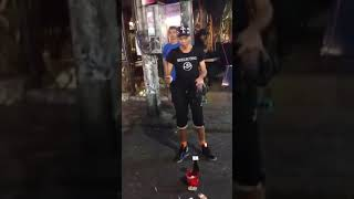 Smart street act by talented chinese magician
