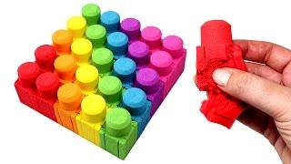 DIY Kinetic Sand Mega Bloks Learn Colors Kinetic Sand Feet LPS Minis Surprise Toys