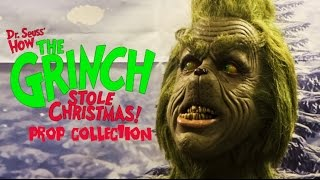 How the Grinch Stole Christmas Prop Collection Display