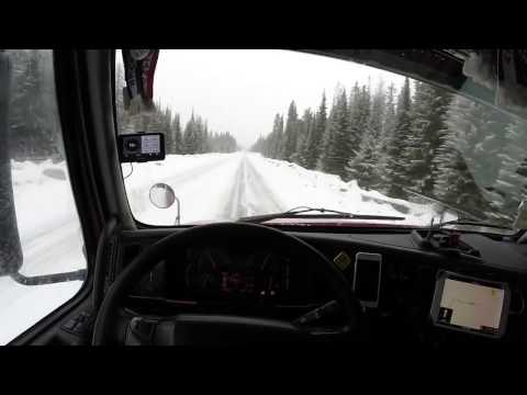 Przełęcz na drodze nr 3 w British Columbia. 28.03.2017