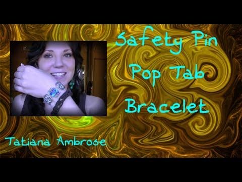 Friendship Bracelet DIY Safety Pin Soda Can Tab Silver Colorful Bracelet